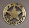 Transportation:Railroad, SOUTHERN PACIFIC RAILROAD POLICE BADGE - ca.1910-15. This is a niceSouthern Pacific Railroad Police center-cut star badge b... (Total:1 Item)