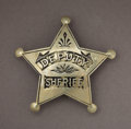 Western Expansion:Cowboy, EARLY DEPUTY SHERIFF BADGE - DENVER, COLORADO - ca.1880-90. This isa very fine and early Deputy Sheriff's badge stamped fro... (Total:1 Item)