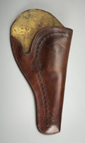 "Western Expansion:Cowboy, NORVELL-SHAPLIEGH HARDWARE CO TOOLED ""DIAMOND"" PISTOL HOLSTER ca1900-1920..."