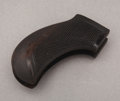 """Western Expansion:Cowboy, 1877 COLT """"LIGHTNING"""" 1ST YEAR CHECKERED WOOD GRIPS - ca. 1877-78.These rare Colt Model 1877 """"Lightning"""" or """"Thunderer"""" gri...(Total: 1 Item)"""
