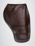 Western Expansion:Cowboy, Early Single Action leather Holster....