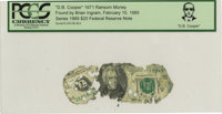"""D. B. Cooper"" 1971 Ransom Money. Serial #L38138140A. Series 1969 $20 Federal Reserve Note. Certified and enca..."