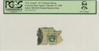 """D. B. Cooper"" 1971 Ransom Money. Serial #L09781412A. Series 1969 $20 Federal Reserve Note. Certified and enca..."