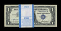 Small Size:Silver Certificates, Fr. 1619 $1 1957 Silver Certificates. Pack of 100. Choice Crisp Uncirculated.. ...