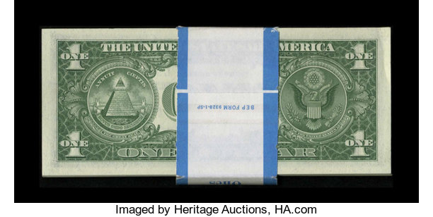 Fr. 1619 $1 1957 Silver Certificates. Pack of 100. Choice   Lot ...