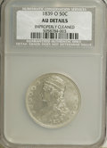 Reeded Edge Half Dollars: , 1839-O 50C --Improperly Cleaned--NCS. AU Details. NGC Census:(10/127). PCGS Population (31/75). Mintage: 178,976. Numismedi...