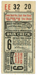 Baseball Collectibles:Tickets, 1931 World Series Game 6 Ticket Stub. 1931 saw the St. LouisCardinals make it to the Fall Classic for the fourth time in s...