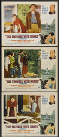 """Movie Posters:Hitchcock, The Trouble With Harry (Paramount, R-1963). Lobby Cards (3) (11"""" X 14""""). Hitchcock.... (Total: 3 Items)"""