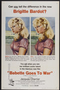 "Movie Posters:Comedy, Babette Goes to War (Columbia, 1960). One Sheet (27"" X 41""). Comedy...."