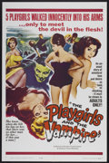 "Movie Posters:Horror, The Playgirls and the Vampire (Fanfare, 1963). One Sheet (27"" X 41""). Horror...."