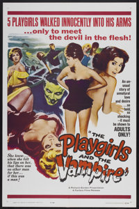 """The Playgirls and the Vampire (Fanfare, 1963). One Sheet (27"""" X 41""""). Horror"""