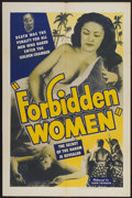 "Movie Posters:Adventure, Forbidden Women (Lloyd Friedgen, 1948). One Sheet (27"" X 41"").Adventure.. ..."