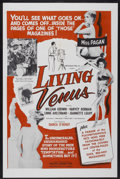 "Movie Posters:Sexploitation, Living Venus (Creative Services, 1961). One Sheet (27"" X 41"").Sexploitation. ..."