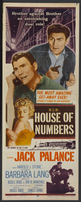 "House of Numbers (MGM, 1957). Insert (14"" X 36""). Film Noir"
