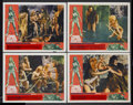 "Movie Posters:Adventure, One Million Years B.C. (20th Century Fox, 1966). Lobby Cards (4)(11"" X 14""). Adventure.... (Total: 4 Items)"