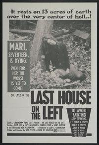 """The Last House on the Left (Sean S. Cunningham Films, 1977). One Sheet (27"""" X 40""""). Horror"""