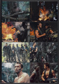 """Movie Posters:Science Fiction, Predator (20th Century Fox, 1987). Deluxe Lobby Card Set of 8 (10""""X 14""""). Science Fiction.... (Total: 8 Items)"""