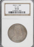 Bust Half Dollars: , 1822/1 50C VF35 NGC. O-101. NGC Census: (3/73). PCGS Population(0/55). Numismedia Wsl. Price for NGC/PCGS coin in VF35: ...