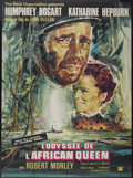 "Movie Posters:Adventure, The African Queen (United Artists, R-1965). French Grande (45.5"" X61.5""). Adventure...."
