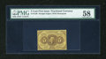 Fractional Currency:First Issue, Fr. 1230 5c First Issue PMG Choice About Unc 58....