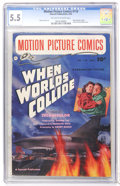 Golden Age (1938-1955):Science Fiction, Motion Picture Comics #110 When Worlds Collide (Fawcett, 1952) CGCFN- 5.5 Off-white to white pages....