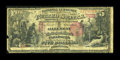 National Bank Notes:Pennsylvania, Pittsburgh, PA - $5 1875 Fr. 401 The Allegheny NB Ch. # 722. ...