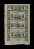 Obsoletes By State:Michigan, Ann Arbor, MI- Millers Bank of Washtenaw $1-$2-$3-$5 18__ Uncut Sheet. ...