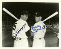 Autographs:Photos, Joe DiMaggio and Mickey Mantle Dual-Signed Photograph. As theYankee Clipper prepared to vacate his spot as the pinstripers...