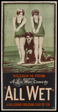 """Movie Posters:Comedy, All Wet (William Pizor, 1920). Three Sheet (41"""" X 81""""). Comedy...."""