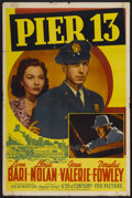 "Movie Posters:Mystery, Pier 13 (20th Century Fox, 1940). One Sheet (27"" X 41"").Mystery...."