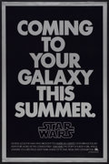 "Movie Posters:Science Fiction, Star Wars (20th Century Fox, 1977). One Sheet (27"" X 41"") SecondAdvance. Science Fiction...."