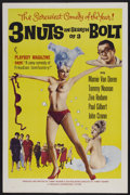 "Movie Posters:Sexploitation, 3 Nuts in Search of a Bolt (Harlequin International, 1964). OneSheet (27"" X 41""). Sexploitation...."
