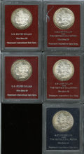 Additional Certified Coins, 1880-S $1 Morgan Dollar MS65 Paramount (MS63),... (Total: 5 coins)