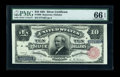 Large Size:Silver Certificates, Fr. 298 $10 1891 Silver Certificate PMG Gem Uncirculated 66 EPQ....