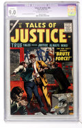 Silver Age (1956-1969):Mystery, Tales of Justice #66 (Atlas, 1957) CGC Apparent VF/NM 9.0 Slight(P) Off-white to white pages....