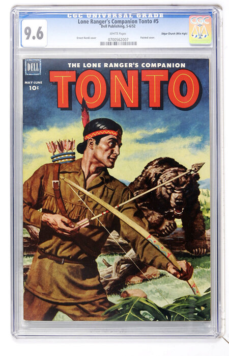 The Lone Ranger's Companion Tonto #5 Mile High pedigree (Dell, 1952) CGC NM+ 9.6 White pages....