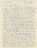 Autographs:Letters, 1958-70 Earle Combs Signed Letters Lot of 2. The celebrated NewYork Yankee Hall of Famer Earle Combs makes two examples of...