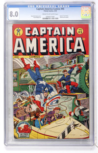 Captain America Comics #45 (Timely, 1945) CGC VF 8.0 Cream to off-white pages