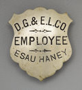 Western Expansion:Goldrush, Denver Gas and Electric Light Company Employee Badge,...