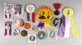 Military & Patriotic:Indian Wars, Lot of 16 Buttons, Badges, and Tokens, most related to George Armstrong Custer and the Battle of Little Big Horn.... (Total: 16 Items)