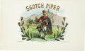 Antique Stone Lithography:Cigar Label Art, Scotch Piper Cigar Label by Wm. Steiner, Sons & Co, NewYork....