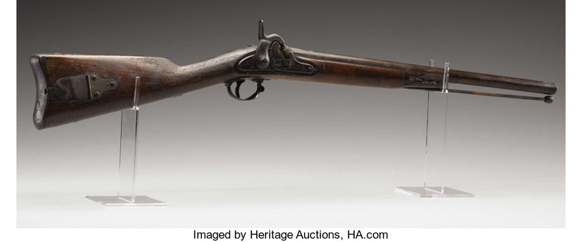 M1855 Harper's Ferry Rifle with Probable Confederate Alteration to