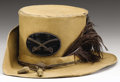 Military & Patriotic:Civil War, Confederate Virginia Cavalry Officer's Hardee Style Hat with the Original Insignia and Plume. ...