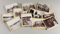 """INTERESTING ELEVEN IMAGE COLLECTION OF LIFE ON A CATTLE/HORSE RANCH Set of 11 4.75"""" x 3.5"""" photographs depicti..."""