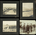 Western Expansion:Cowboy, Lot of Three Photographs of Live Stock in pens & one of a Pileof Horse Shoes ca 1890s - ... (Total: 4 Items)