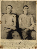 Photography:Cabinet Photos, JESSE JAMES GANG MEMBERS - CLEL MILLER AND BILL STILES - VINTAGECONTACT PRINT - ca.1900-1950.. This is a unusual postmortem...