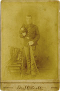 Photography:Cabinet Photos, 1880s Cabinet of Fort Yates Soldier by Scott. ...
