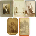 Western Expansion:Indian Artifacts, Lot of Five Photographs, All Native Americans ca. 1880s-1890s. ...(Total: 5 Items)