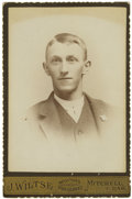 Photography:Cabinet Photos, Cabinet Card of Dakota Territory Sheriff, circa 1885. ...