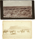 Western Expansion:Cowboy, Lot of Two Cabinet Card Photographs Cowboys on the Range ca 1890s -... (Total: 2 Items)